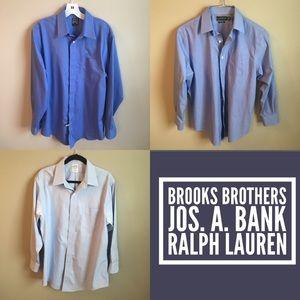 Brooks Brothers Other - Bundle of 3 Designer Shirts, Blue, 16-16.5