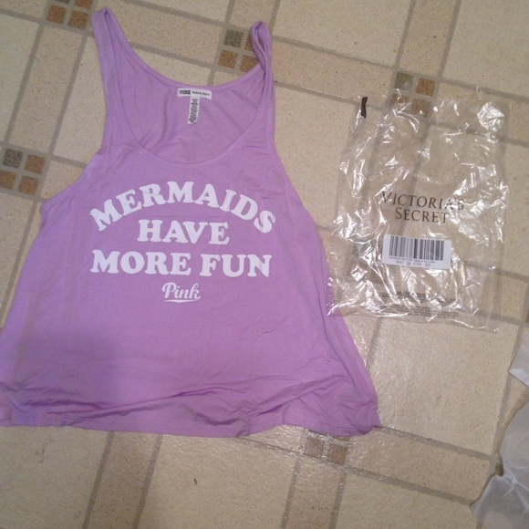 8a0676855fa0e Brand new mermaids have more fun tank top NWT