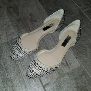 Champagne Crystal Flats