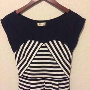 Olsenboye Dresses & Skirts - Black and white striped dress (fits like a small)