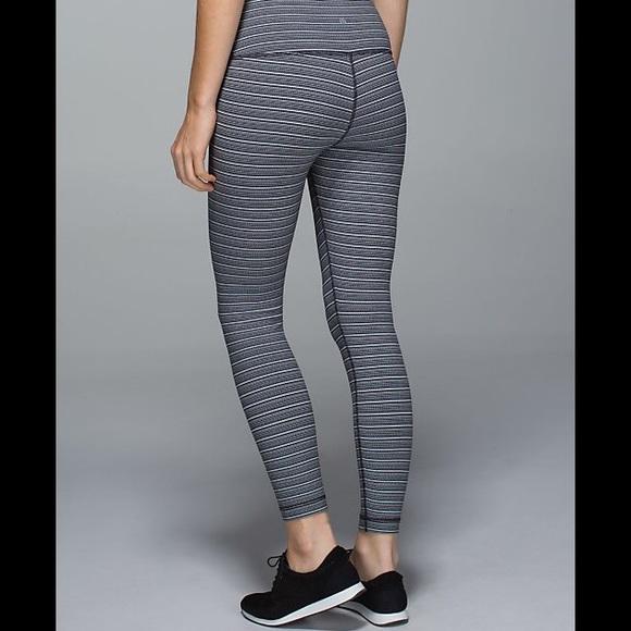 e6bdd95d553939 lululemon athletica Pants - Lululemon High Times Textured Stripe Deep Coal,  6
