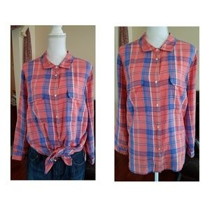 🆕Plaid Dobby Shirt, Size 1x