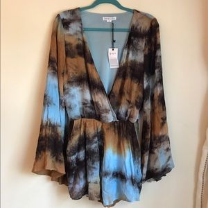 Blue Life Dresses & Skirts - NWT Love Riche Tie Dye Romper