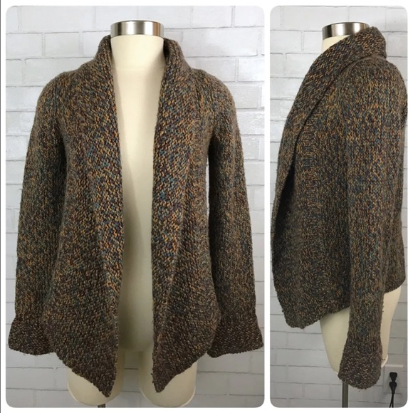 b049ea50edd Anthropologie Sweaters - Anthro WHR Open Front Thick Knit Alpaca Sweater