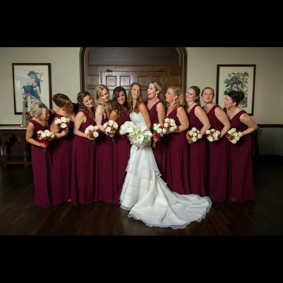 3fc97df044 Bill Levkoff Dresses   Skirts - Bill Levkoff Style 768 Bridesmaid in Wine  Chiffon