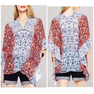 Vince Camuto Tops - Two by Vince Camuto Paisley Poncho Top