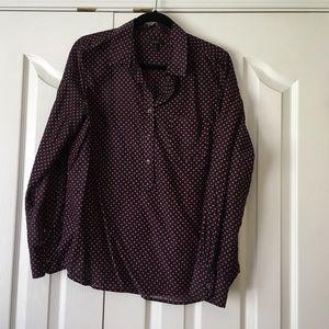 J. Crew polka dot shirt