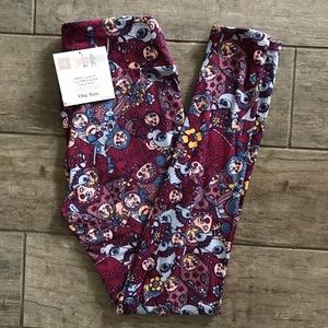  NWT OS Lularoe Russian doll/bunny leggings