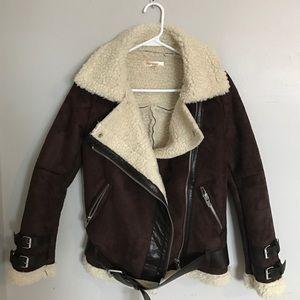 NWT Faux Shearling Aviator Jacket