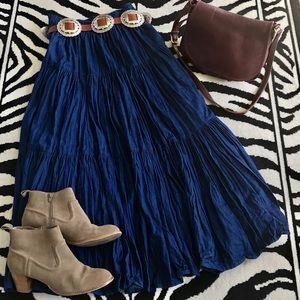 BOHO • PRAIRIE • GYPSY Style • Maxi Denim Skirt