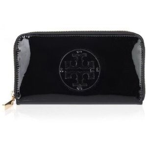 Tory Burch Handbags - Tory butch continental bronze patent leather walle