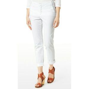 NYDJ WHITE SLIMMING LIFT& TUCK CROP PANTS