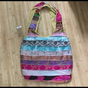 555d0ff28395 Bags - Upcycled Sari Bag from India - One of a Kind -  25