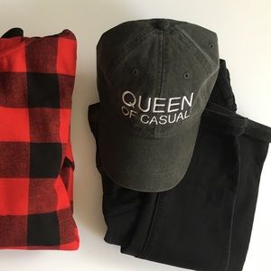 "NWT ""Queen of Casual"" Dad Hat"