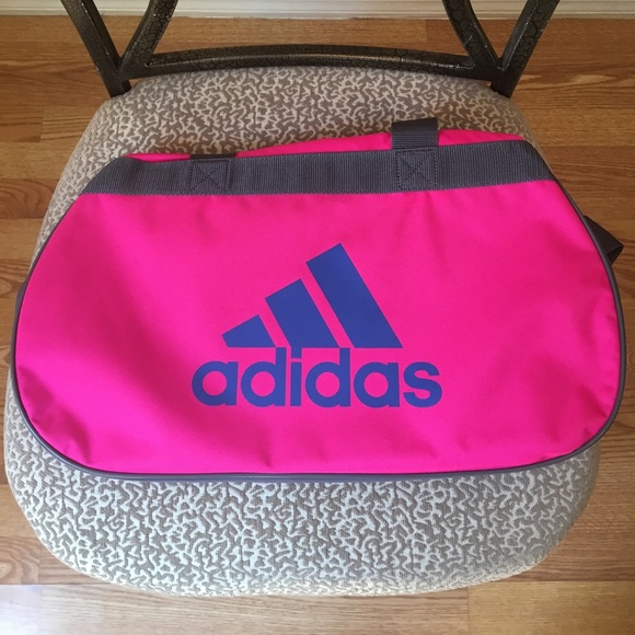 Adidas Diablo Small Hot Pink Gray Duffle Bag 1598115d433b0