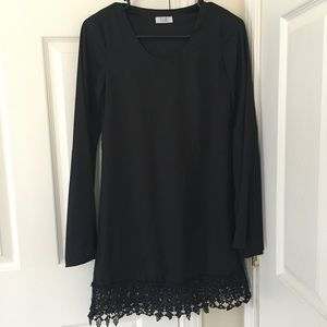 Black Tobi Shift Dress