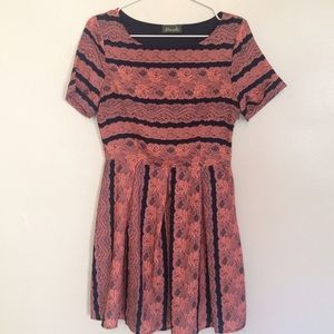 Maude Dresses & Skirts - Pink & Navy Dress