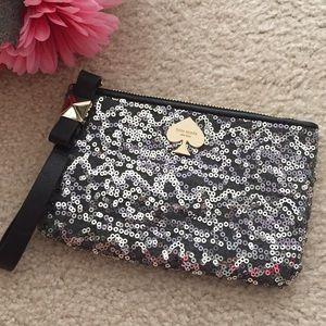 kate spade Handbags - Black Sequined Bow Wristlet