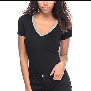 NWOT black tee bodysuit