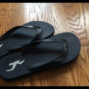 Hollister navy flip-flops Size 9 new