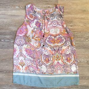 St. Tropez Tops - Saint Tropez West sleeveless blouse