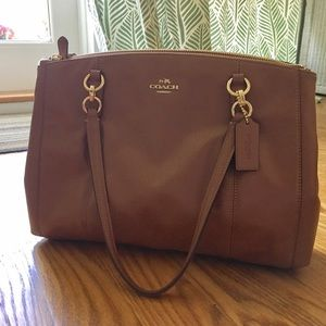 NWT Coach Christie Bag in Smooth Brown Leather