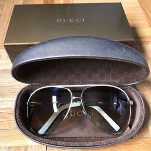 Gucci Aviator Sunglasses Gold/Brown GG 1827/S