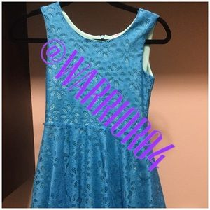 Knitworks Other - Girls Size 12 Blue (Turquoise) A-line Twirl Dress