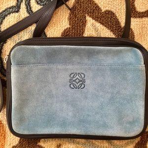 Loewe Handbags - REDUCED‼️ LOEWE Madrid Blue Suede Cross-body Bag