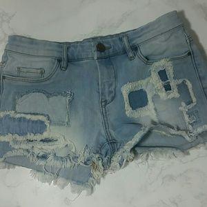 Blank NYC Pants - Blank NYC Distressed denim shorts