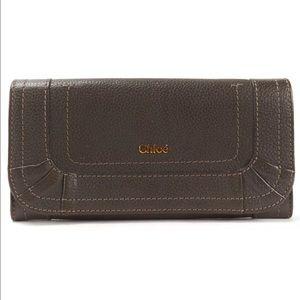 Chloe Paraty Wallet in Dark Taupe