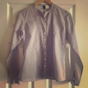 J. Crew Tops - J.Crew sheer lavender shirt cotton; size 0
