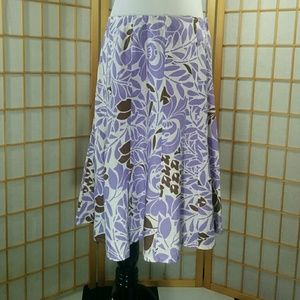 Sunny Leigh Dresses & Skirts - Sunny Leigh lavender white, and brown midi skirt.