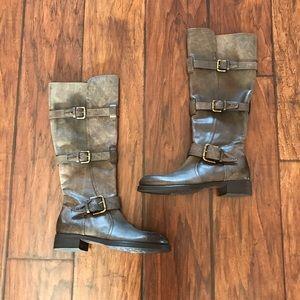 Alberto Fermani Shoes - Alberto Fermani Distressed Brown Boots
