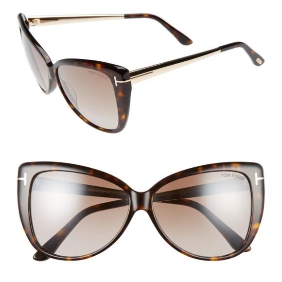 dd803e8dfa  REDUCED  Tom Ford Reveka Cat-Eye Sunglasses