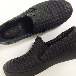 MK quilted leather slip on shoes