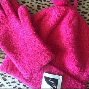 Hat &a glove set NWT