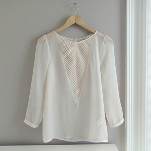 Urban Outfitters Sheer Pin-tuck Blouse