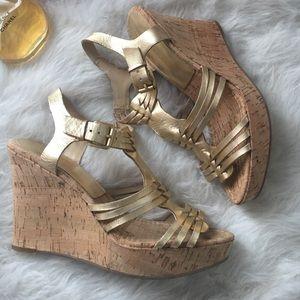 Audrey Brooke Shoes - Beautiful Gold Metallic Carina Sandals