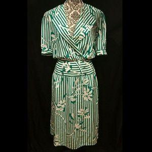 Vintage 1980's Silk Day Dress