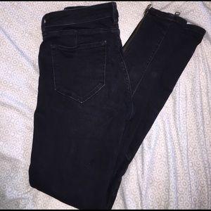 ALL SAINTS Biker Faded Black Jeans