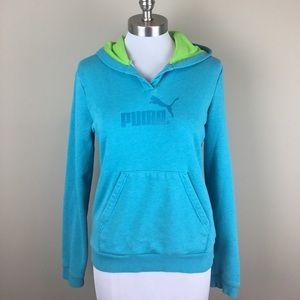 Puma Sweaters - 💰$5 SALE❗️PUMA | Blue Hooded Sweatshirt