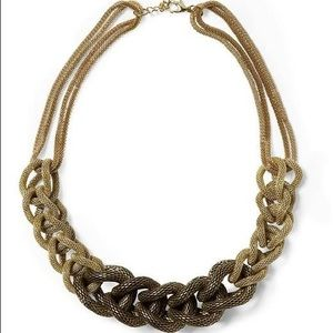 SOLD Hive & Honey Soft Woven Link Necklace