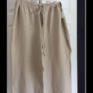 NWT Calvin Klein linen pants