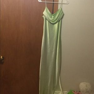 Light green maxi dress