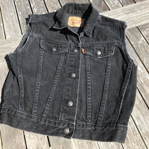 Levi's Other - Little Levi's Black Jean Denim Vest 5