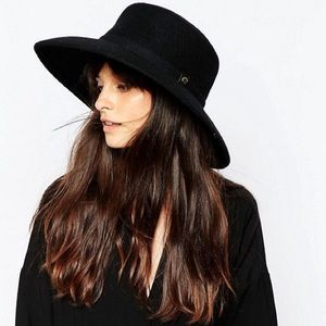Whistles Accessories - Whistles Navy Flat Top Wide-Brimmed Hat