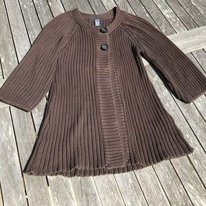 Zara Kids Brown Cardigan Sweater 13-14