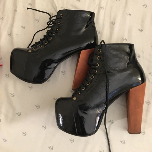 dae6081321ca Jeffrey Campbell Shoes - Jeffrey Campbell patent leather Lita boots