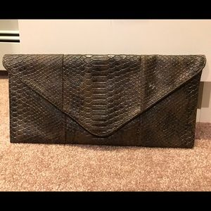 Large Alligator envelope clutch